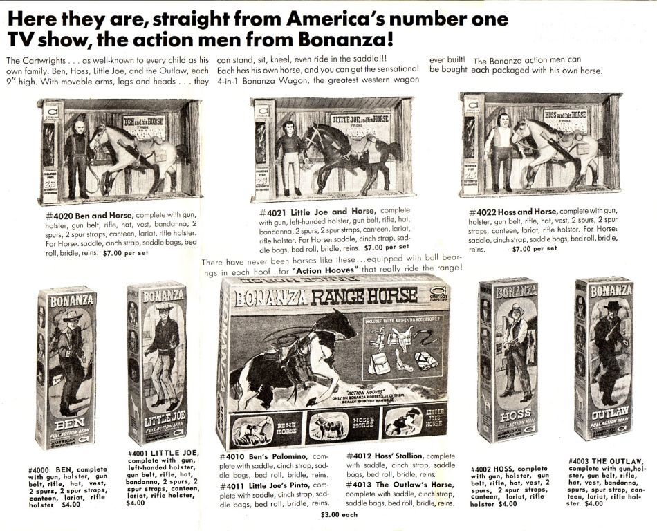 American Characters, Bonanza Action Figures Print Ad