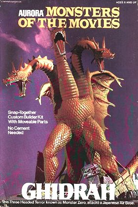 Aurora Figure Kit, Monsters Of The Movies, Ghidrah