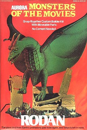 Aurora Figure Kit, Monsters Of The Movies, Rodan
